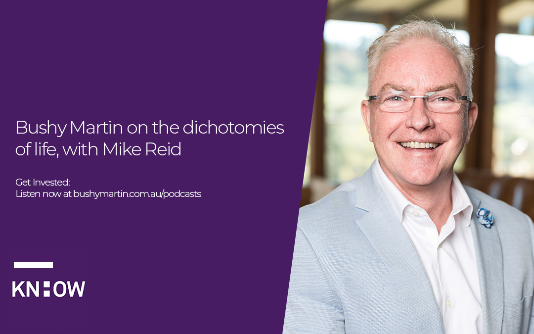 71. Bushy Martin on the dichotomies of life, with Mike Reid