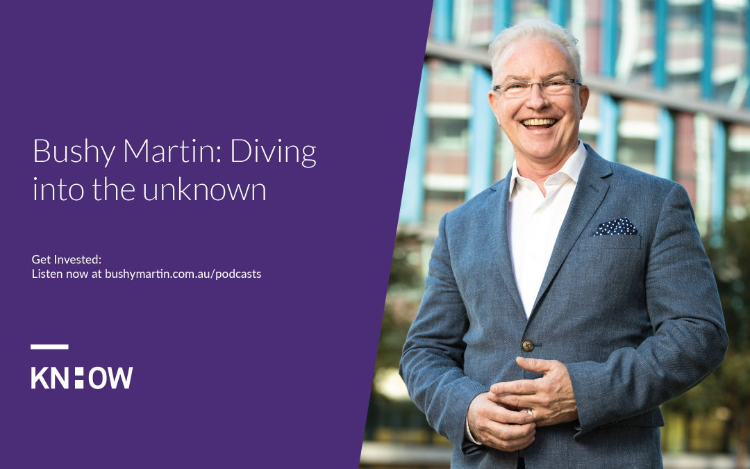 92. Bushy Martin: Diving into the unknown (live keynote)